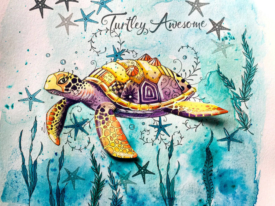 Pink Ink Designs Stamp - Sea Turtle