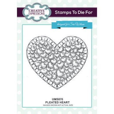 Sue Wilson Stamps To Die For - Pleated Heart Pre Cut Stamp  - UMS876