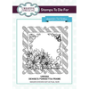 Sue Wilson Stamps To Die For - Denise's Poinsettia Frame Pre Cut Stamp - UMS884