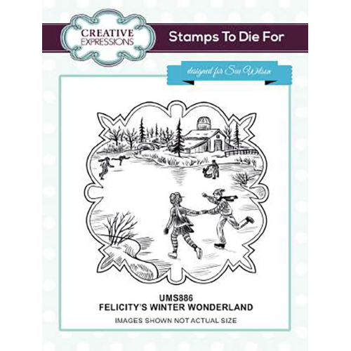 Sue Wilson Stamps To Die For - Felicitys's Winter Wonderland Pre Cut Stamp - UMS886