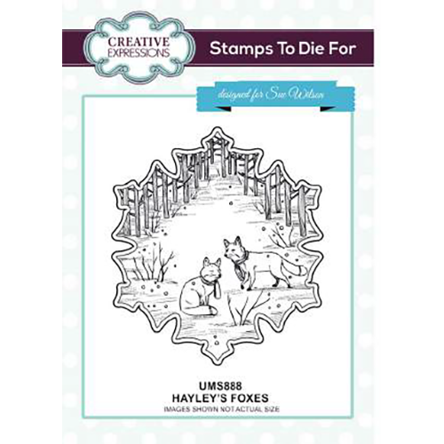 Sue Wilson Stamps To Die For - Hayley's Foxes Pre Cut Stamp - UMS888