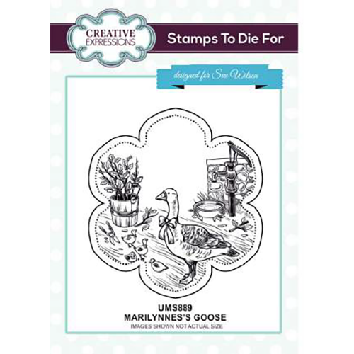 Sue Wilson Stamps To Die For - Marilynne's Goose Pre Cut Stamp - UMS889