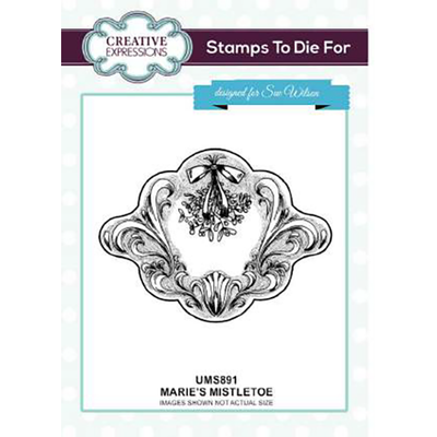 Sue Wilson Stamps To Die For - Marie's Mistletoe Pre Cut Stamp - UMS891
