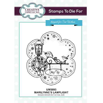 Sue Wilson Stamps To Die For - Marilynne's Lamplight Pre Cut Stamp - UMS893