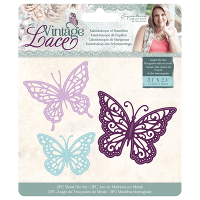 Sara Signature Collection by Crafters Companion - Vintage Lace - Metal Die - Kaleidoscope of Butterflies