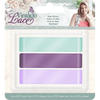 "Sara Signature Collection by Crafters Companion - Vintage Lace - Satin Ribbon 0.75"" (3pk)"