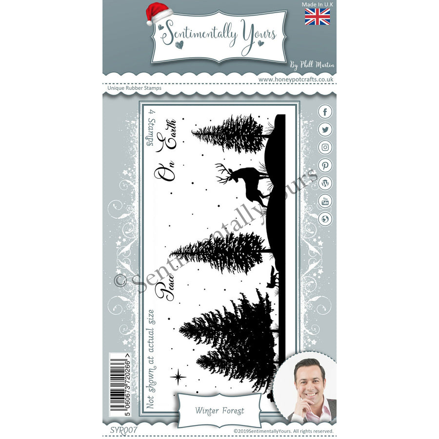 Phill Martin - Sentimentally Yours - Winter Forest DL Silhouette Stamp Set