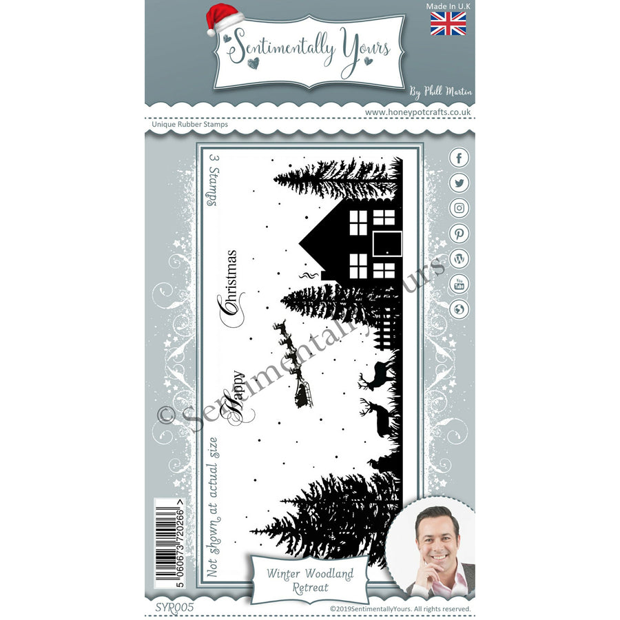 Phill Martin - Sentimentally Yours - Winter Woodland Retreat DL Silhouette Stamp Set