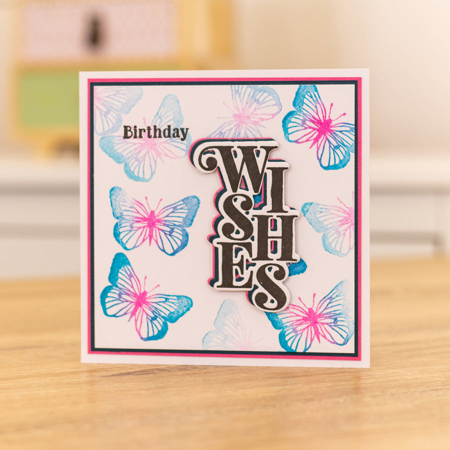 Gemini by Crafters Companion - Stamp & Die - Wishes