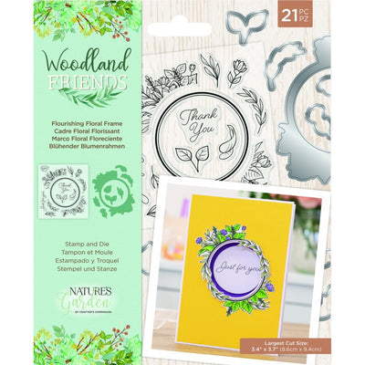 Natures Garden - Woodland Friends - Stamp & Die - Flourishing Floral Frame