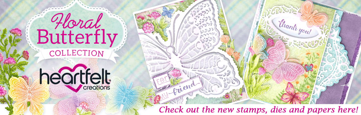 Heartfelt Creations Floral Butterfly Collection