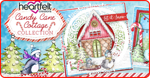 Heartfelt Creations Candy Cane Cottage