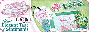 Heartfelt Creations Elegant Tags & Sentiments Festive Collection 2018