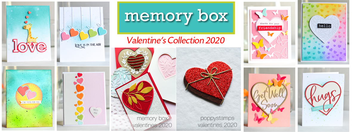 Memory Box & Poppystamps Valentine's Collection
