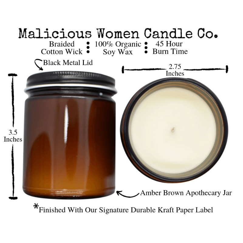 "Candle - Calm The Fuck Down! Infused with ""Melodramatic Tendencies"" (Scent: Lavender & Coconut Water)"