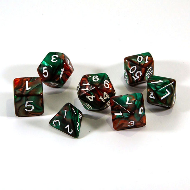 Dice - (03) 7-Piece Polyhedral Set: Heroic Holicheer