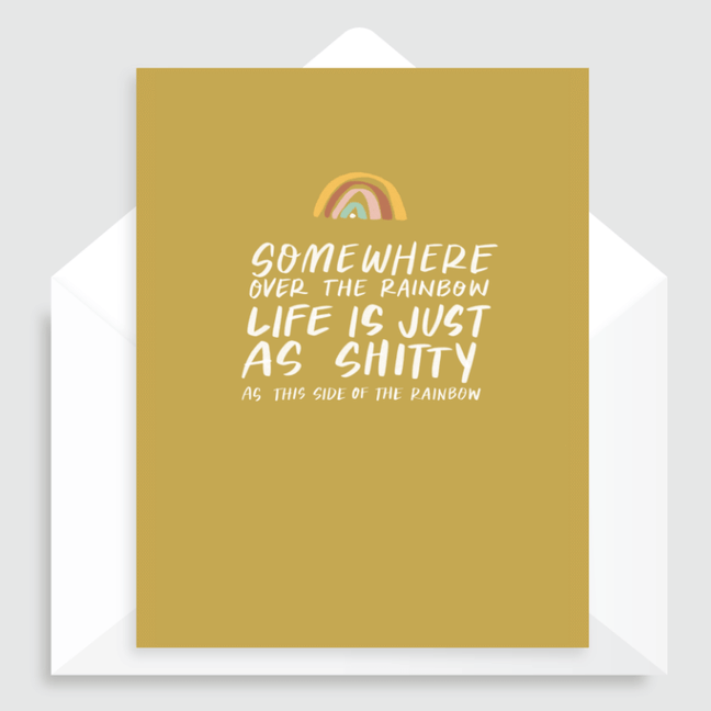 Greeting Card - A Little Humerus: Somewhere Over the Rainbow [Encouragement]
