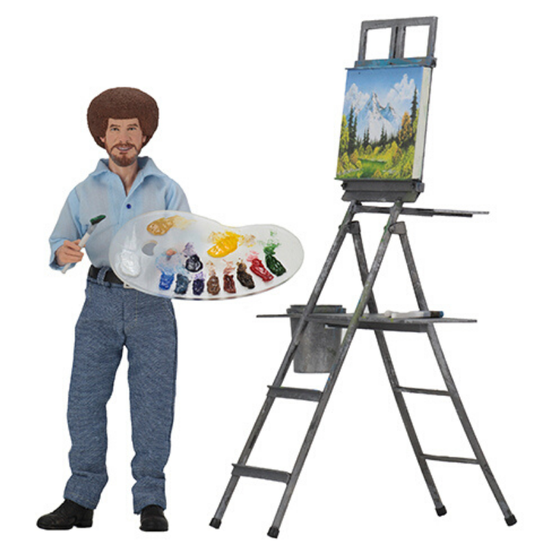 bob ross action figure neca