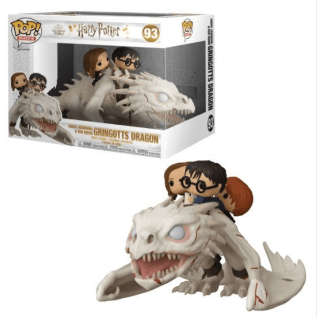 Funko POP! Rides - Harry Potter: Harry, Hermione & Ron Riding Gingotts Dream #93