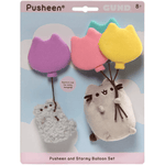 Plush - Pusheen: Pusheen and Stormy with Balloons Suction Cup Set of 2