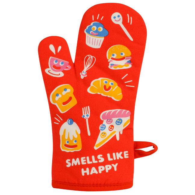 Oven Mitt - Smells Like Happy by Blue Q