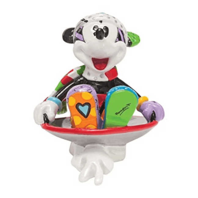 "Statue - Disney: 3"" Sledding Mickey Mouse by Britto [Retired]"
