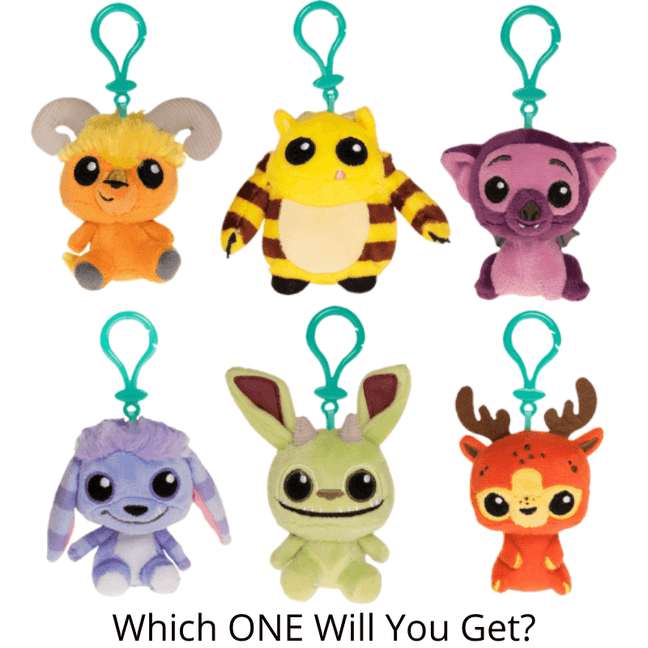 mystery mini wetmore forest monsters plush bag clip art
