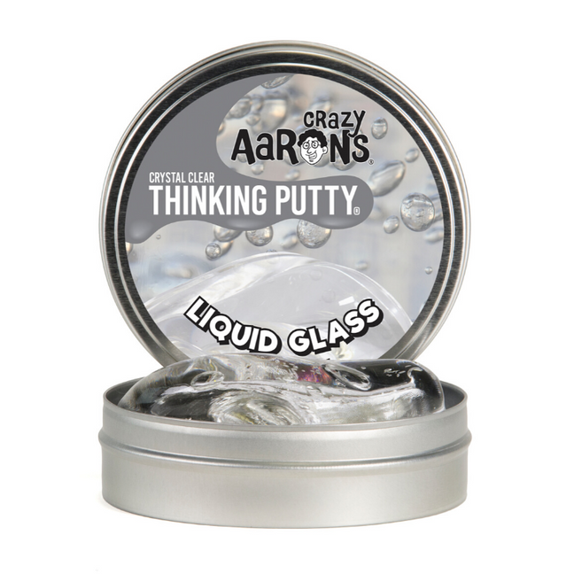 "Thinking Putty - Crystal Clear Liquid Glass 4"" Tin"