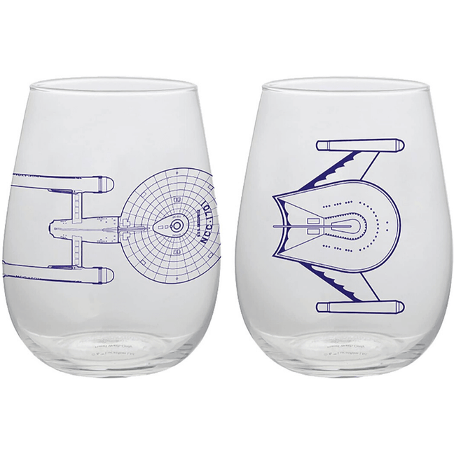 Wine Cup - Star Trek Classic Stemless Glasses Set of 2