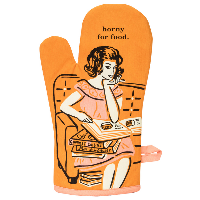 Oven Mitt - Horny For Food.