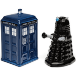 Salt & Pepper Shakers - Doctor Who: Tardis & Dalek