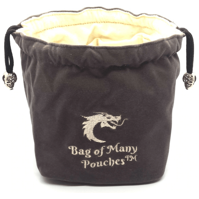 Dice Pouch - Old School: RPG D&D Bag of Many Pouches Gray