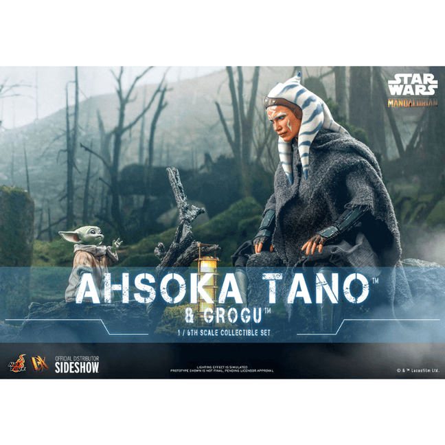 Figure - Star Wars The Mandalorian: Ahsoka Tano and Grogu Deluxe Sixth Scale Figure Set by Hot Toys [PRE-ORDER]