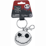 Keychain - Disney Nightmare Before Christmas: Jack Skellington 2-Sided Face Colored Pewter