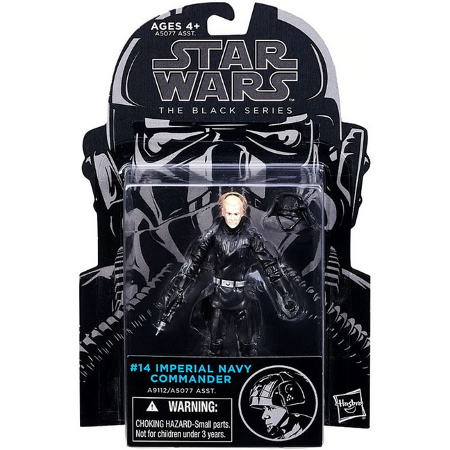 "Figure - Star Wars The Empire Strikes Back: 3.75"" The Black Series Imperial Navy Commander #14"