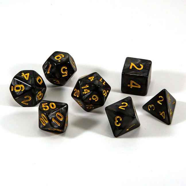 Dice - (22) 7-Piece Polyhedral Set: Stormy Premonition