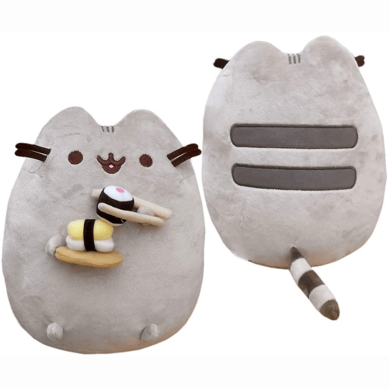 "Plush - Pusheen: 9.5"" Snackables with Chopsticks and Sushi"