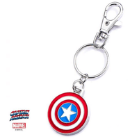 Keychain - Marvel: Captain America Shield Stainless Steel