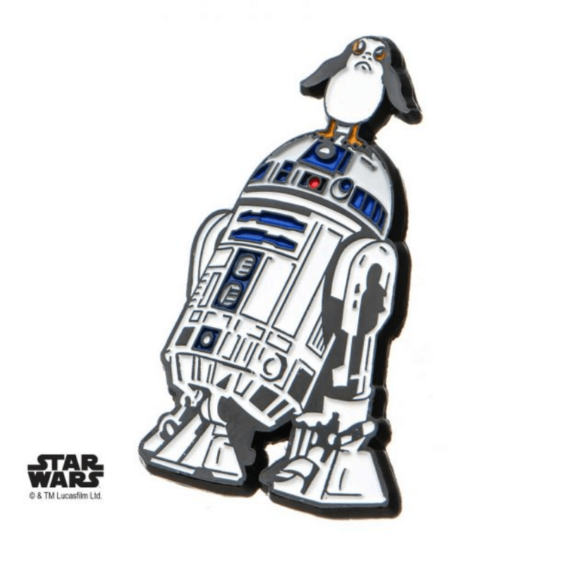 Enamel Pin - Star Wars The Last Jedi: R2-D2 with Porg