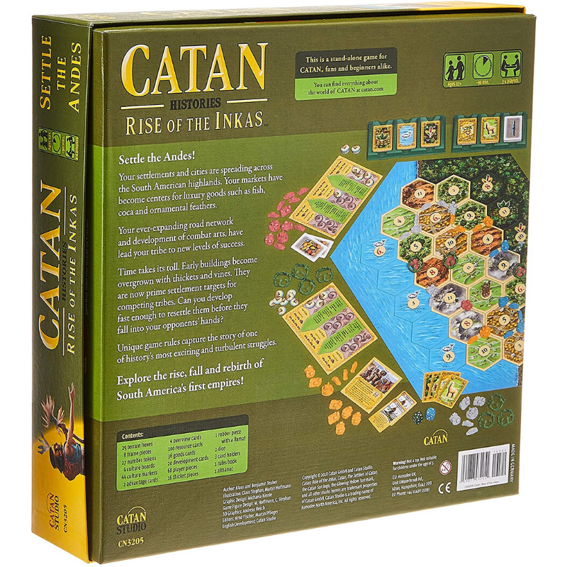 settlers of catan rise of the incas rules