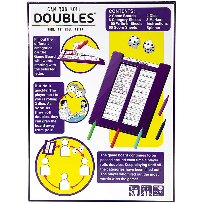 can you roll doubles game rules
