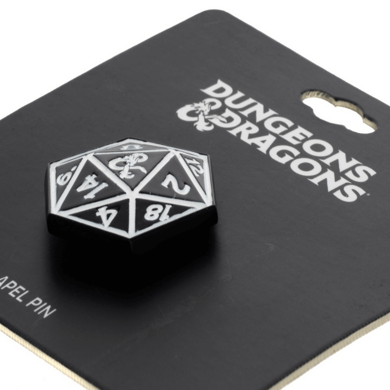 Pin - Dungeons & Dragons: D20 Black Dice