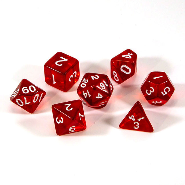 Dice - (63) 7-Piece Polyhedral Set: Crystalline Blood
