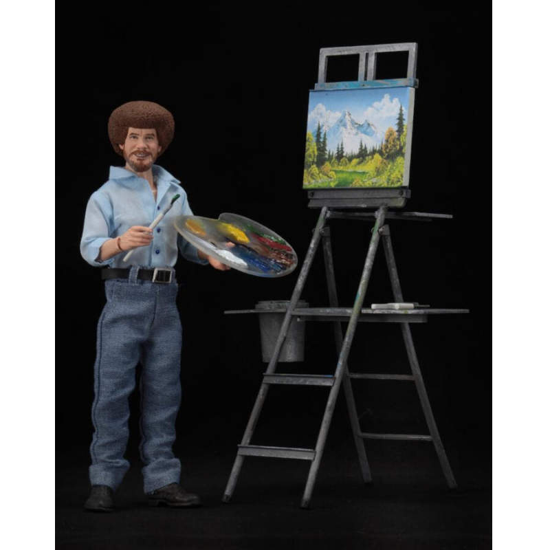 "Action Figure - 8"" Clothed Bob Ross: ""The Joy of Painting"" by NECA"