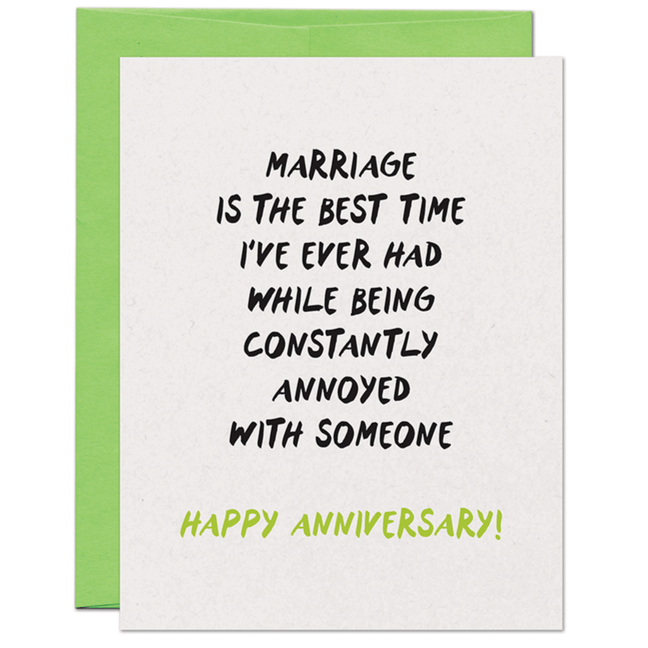 funny anniversary card sayings