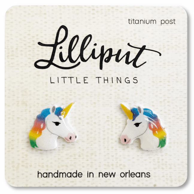 Earrings - Lilliput: Rainbow Unicorn