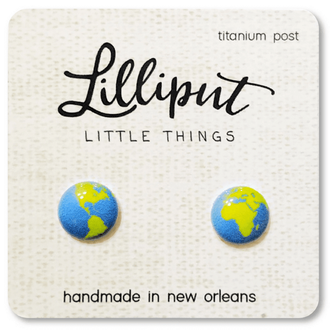 Earrings - Lilliput: Planet Earth