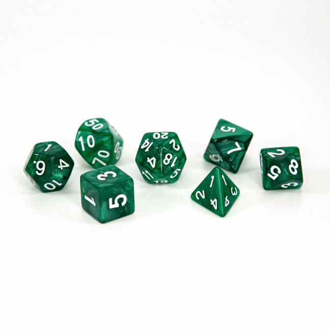 Dice - (32) 7-Piece Polyhedral Set: Emerald Views