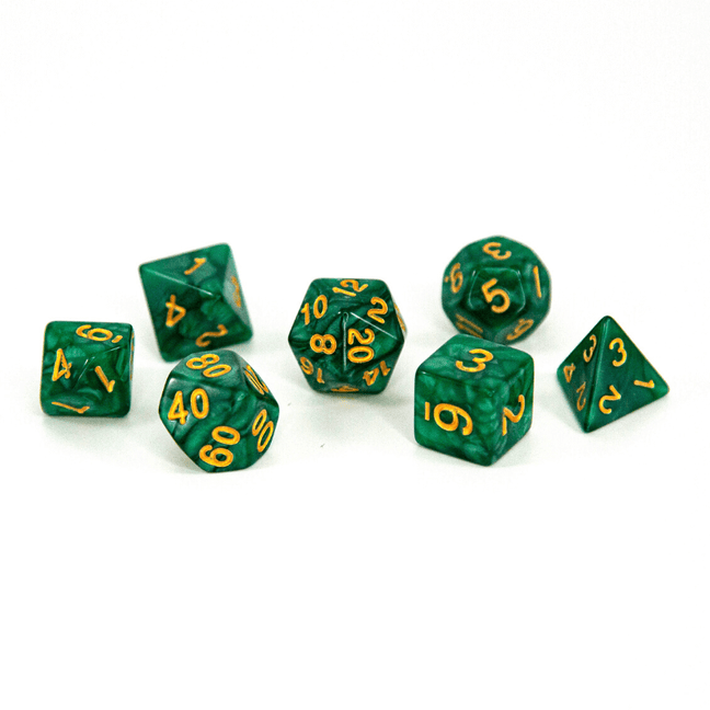 Dice - (26) 7-Piece Polyhedral Set: Enchanted Avo