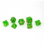Dice - (49) 7-Piece Polyhedral Set: Spring Magic